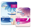 TENA Lady Discreet Mini and TENA Silhouette Lady Pants Plus packs
